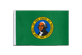 Washington - Satin Flagge 15 x 22 cm