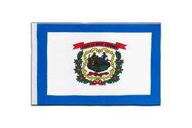 Drapeau en satin West Virginia - 15 x 22 cm