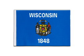 Wisconsin - Satin Flag 6x9""