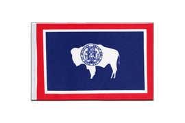 Drapeau en satin Wyoming - 15 x 22 cm