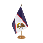 "American Samoa Table Flag - 6x9"", wooden"