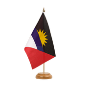 "Antigua and Barbuda - Table Flag 6x9"", wooden"