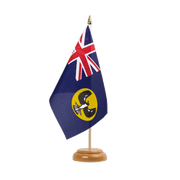 Drapeau de table Australie South - 15 x 22 cm, bois