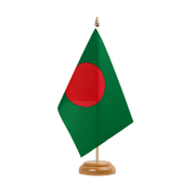 "Bangladesh Table Flag - 6x9"", wooden"