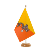 "Table Flag Bhutan - 6x9"", wooden"