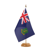 "British Virgin Islands - Table Flag 6x9"", wooden"