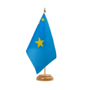 "Democratic Republic of the Congo old - Table Flag 6x9"", wooden"