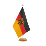 "Germany Dienstflagge Table Flag - 6x9"", wooden"
