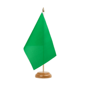 "Green - Table Flag 6x9"", wooden"