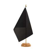 "Black - Table Flag 6x9"", wooden"
