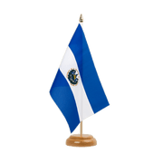 "El Salvador - Table Flag 6x9"", wooden"