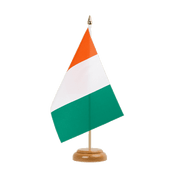 "Ivory Coast - Table Flag 6x9"", wooden"