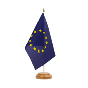 "European Union EU - Table Flag 6x9"", wooden"