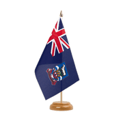 "Falkland Islands - Table Flag 6x9"", wooden"