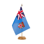 "Table Flag Fiji - 6x9"", wooden"