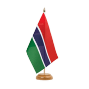 "Gambia Table Flag - 6x9"", wooden"