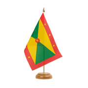 "Grenada - Table Flag 6x9"", wooden"