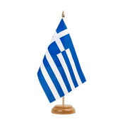 "Greece - Table Flag 6x9"", wooden"