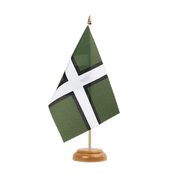 "Devon - Table Flag 6x9"", wooden"