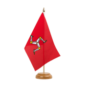 "Isle of man - Table Flag 6x9"", wooden"
