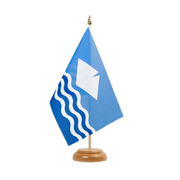 "Isle of Wight - Table Flag 6x9"", wooden"