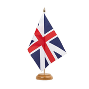 "Great Britain Kings Colors 1606 - Table Flag 6x9"", wooden"