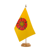 "Lancashire new - Table Flag 6x9"", wooden"