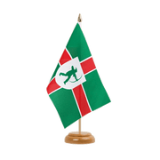 "Nottinghamshire new - Table Flag 6x9"", wooden"