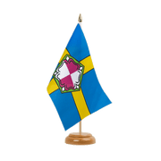 "Pembrokeshire - Table Flag 6x9"", wooden"