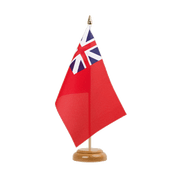 "United Kingdom Red Ensign 1707-1801 - Table Flag 6x9"", wooden"