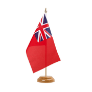 Drapeau de table Red Ensign - 15 x 22 cm, bois