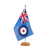 "Royal Airforce - Table Flag 6x9"", wooden"