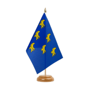 Drapeau de table Sussex - 15 x 22 cm, bois
