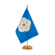 "Yorkshire new Table Flag - 6x9"", wooden"