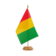 "Guinea - Table Flag 6x9"", wooden"