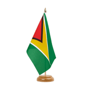 "Guyana - Table Flag 6x9"", wooden"
