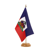 "Haiti - Table Flag 6x9"", wooden"