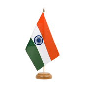 "India - Table Flag 6x9"", wooden"