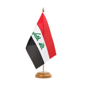 "Iraq 2009 - Table Flag 6x9"", wooden"