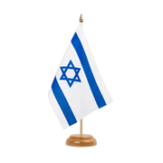 "Israel - Table Flag 6x9"", wooden"