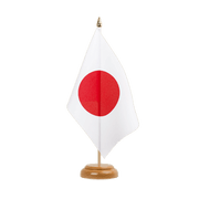 "Japan Table Flag - 6x9"", wooden"