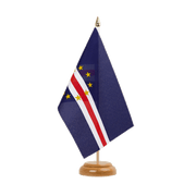 "Cape Verde - Table Flag 6x9"", wooden"