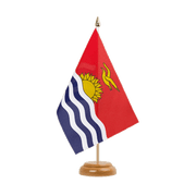 "Kiribati - Table Flag 6x9"", wooden"