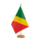 "Congo - Table Flag 6x9"", wooden"