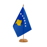 "Kosovo - Table Flag 6x9"", wooden"