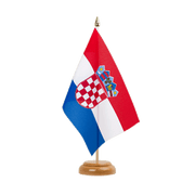 Drapeau de table Croatie - 15 x 22 cm, bois