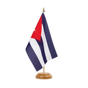 "Cuba - Table Flag 6x9"", wooden"