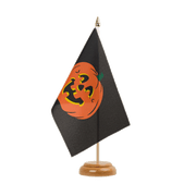 "Pumpkin Table Flag - 6x9"", wooden"