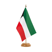 "Kuwait - Table Flag 6x9"", wooden"
