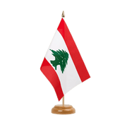 Drapeau de table Liban - 15 x 22 cm, bois